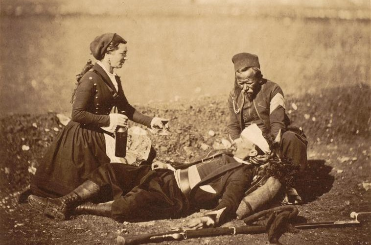 Roger Fenton's haunting photographs of the Crimean War.